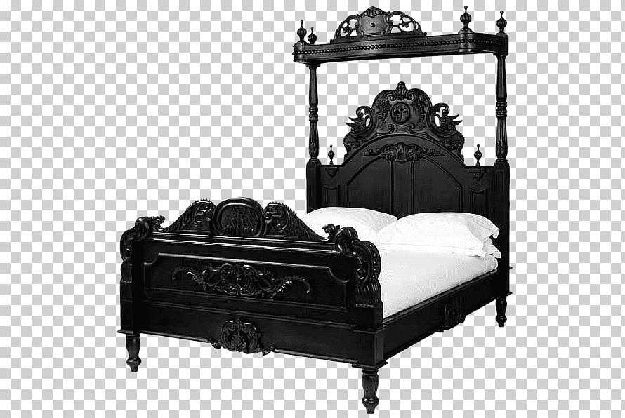 bedside tables canopy bed bedroom