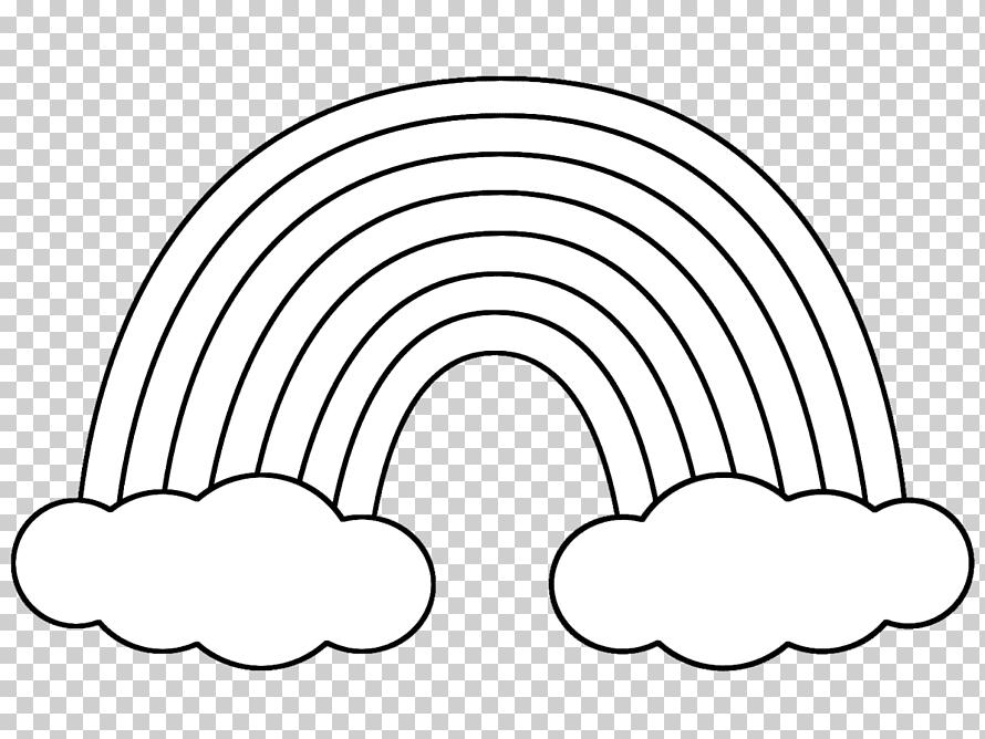 رسم قوس قزح للتلوين