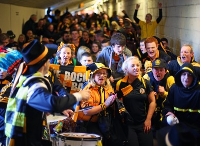 Austin Stacks supporters arrive at the ground for the Munster final.