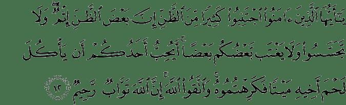 Al-Hujurat: 12