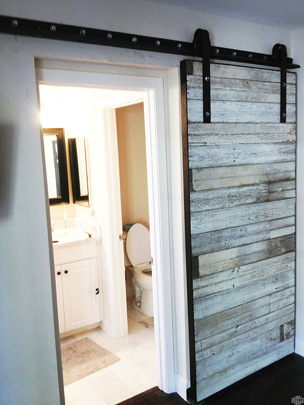 Bathroom ideas sliding barn door