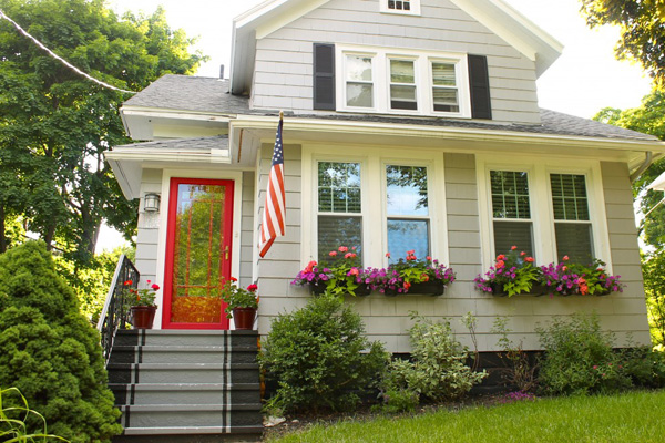 Painted front steps add curb appeal to a home
