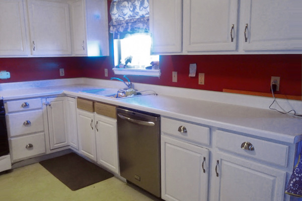 Before home kitchen counter upgraded