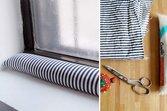 Homemade window snake for drafty window