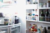 An open refrigerator