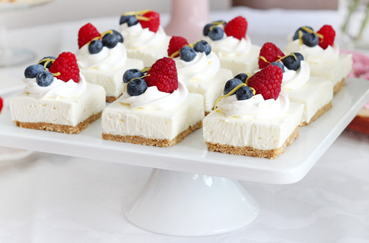 No Bake Lemon Berry Cheesecake Bars