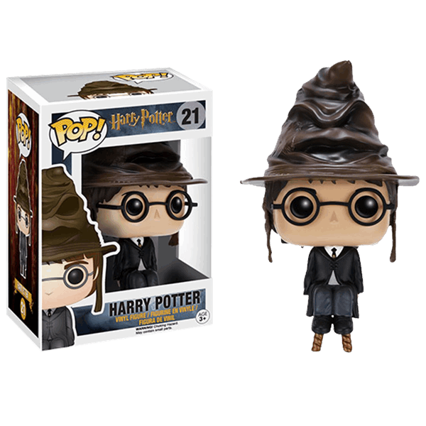 Harry Potter   Harry Potter  with Sorting Hat  Pop  Vinyl Figure     Harry Potter   Harry Potter  with Sorting Hat  Pop  Vinyl Figure   EB Games  Australia