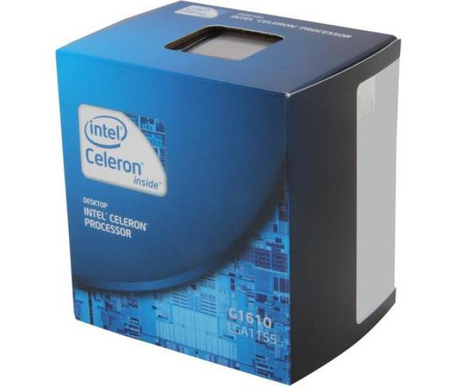 Intel Celeron G1610 Ivy Bridge Dual Core 2 6 Ghz Lga 1155 55w Bx80637g1610 Desktop Processor