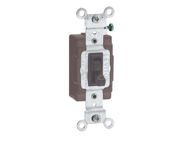Leviton 5501-8 Brown Commercial Grade Single Pole Hospital