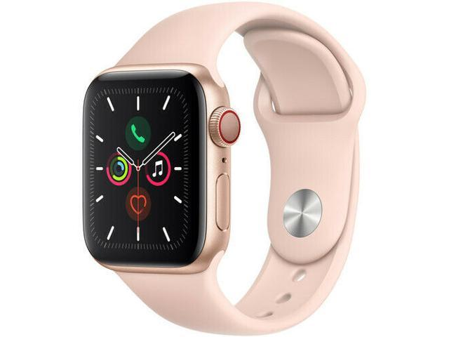 APPLE WATCH SERIES 5 40MM GPS ONLY MWWP2LL/A GOLD ALUMINUM PINK SAND SPORT BAND