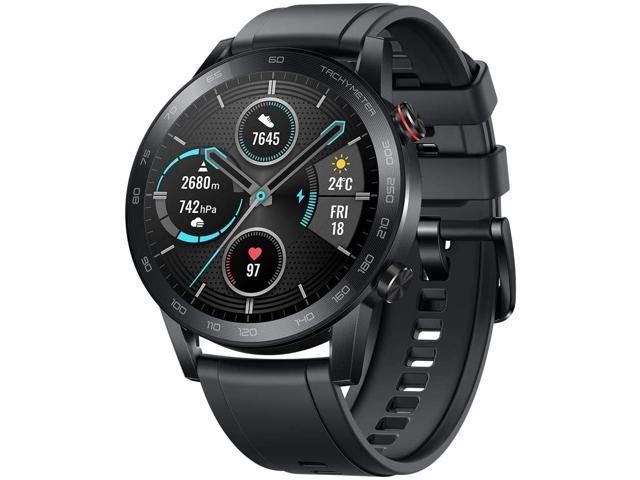 Huawei Honor Magic Watch 2 Bluetooth 5.1 Smart Watch Blood Oxygen Saturation Monitor Heart Rate 14-Day Battery Life 5ATM Waterproof Activity Tracker with Mic For Android iOS - Carbon Black(46mm)