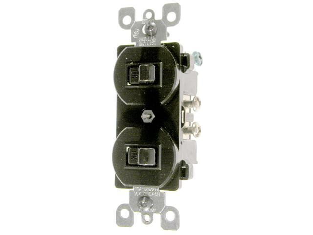 Leviton Brown Commercial Grade 3-Way AC Combination Switch