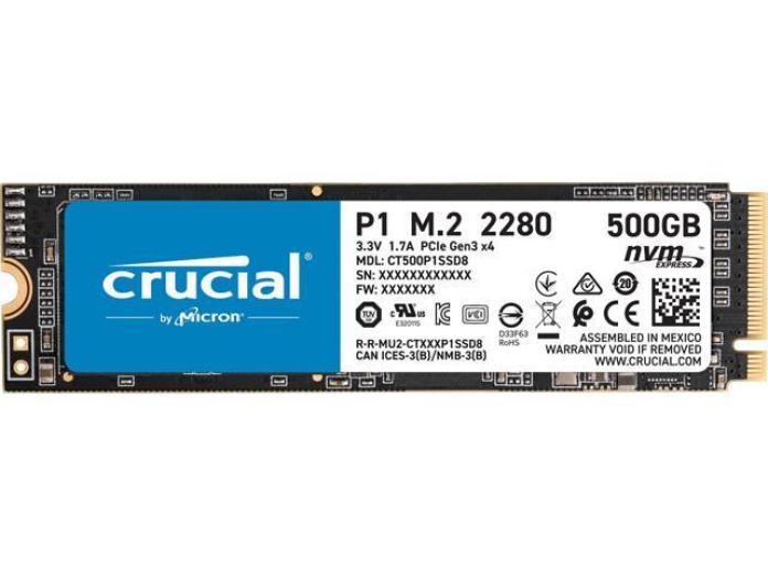 Crucial P1 500GB 3D NAND NVMe PCIe Internal SSD, up to 1900 MB/s - CT500P1SSD8 - Newegg.com