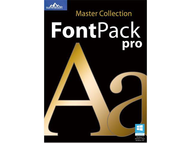 Download SummitSoft Font Pack Pro Master Collection (Windows/Mac ...