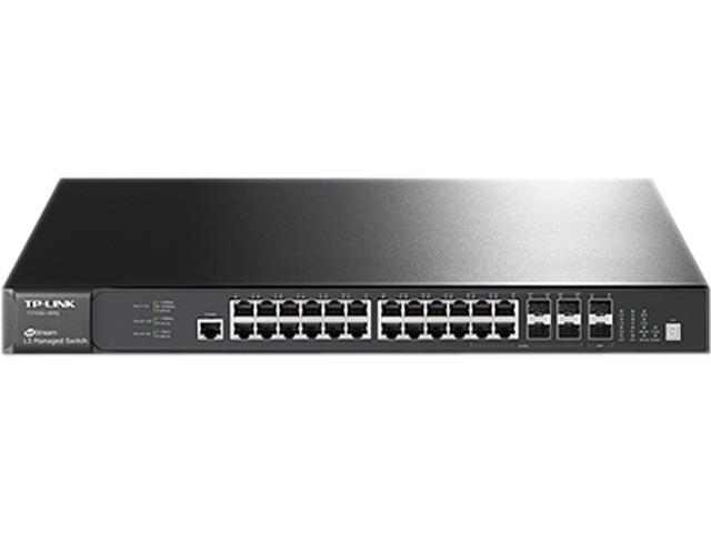 TP-LINK T3700G-28TQ JetStream 28-Port Gigabit Stackable L3 Managed Switch -  Newegg.com
