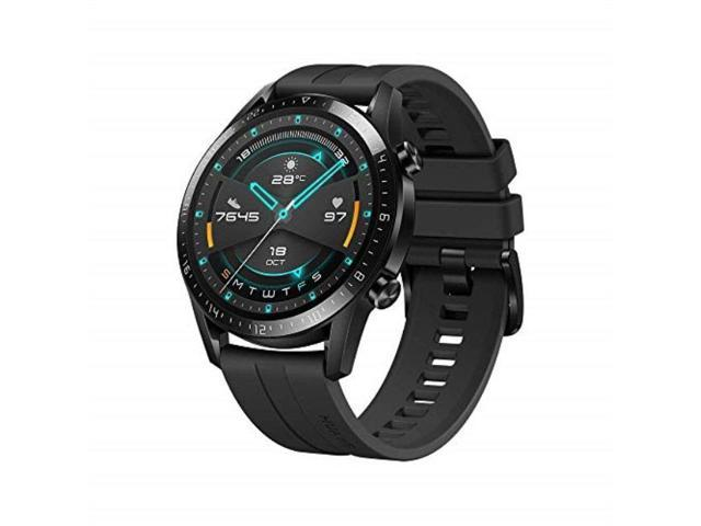 huawei watch gt 2 2019 bluetooth smartwatch, longer lasting 2 weeks battery life, waterproof, compatible with iphone and android, 46mm no warranty international version matte black