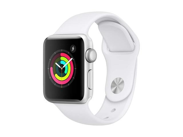 Apple Watch Series 3 38mm Smartwatch (GPS Only, Silver Aluminum Case, White Sport Band)