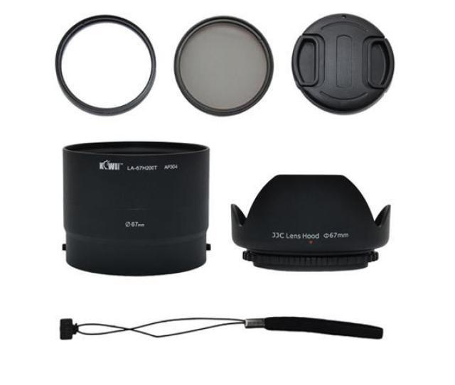 Kiwi H200k 67mm Lens Adapter Hood Tube Cap String Set Uv Cpl Filters Kit For Sony