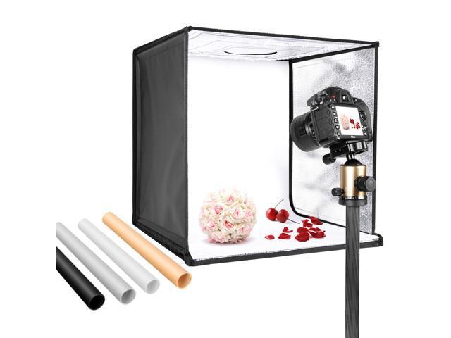 neewer photo studio light box 20 20 shooting light tent with adjustable brightness foldable and portable tabletop photography lighting kit with