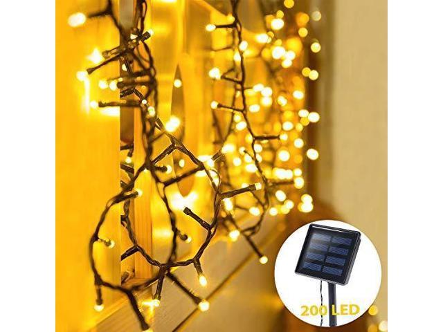 Oxyled Solar String Lights Outdoor 72ft 200 Led Solar Led Fairy String Light Solar Powered Decorative Lights Waterproof For Garden Patio Home Wedding Party Halloween Christmas Warm White Newegg Com