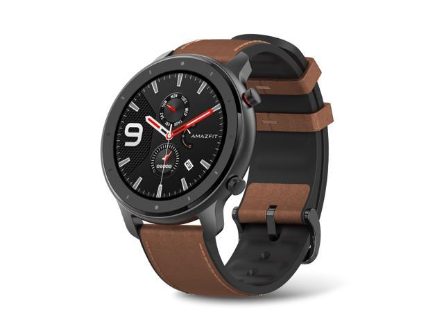 Amazfit GTR Smartwatch with GPS+GLONASS, All-Day Heart Rate Monitor, Daily Activity Tracker Rate and Activity Tracking, 24-Day Battery Life, 12- Sport Modes, 47mm, Aluminium Alloy