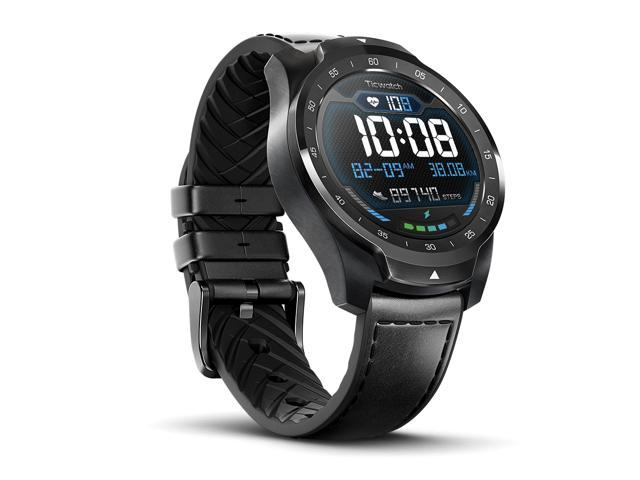 Ticwatch Pro 2020 Smartwatch 1GB RAM, GPS Layered Display Long Battery Life, Wear OS by Google, NFC, 24H Heart Rate, Sleep Tracking, Music, IP68 Water Resistance, Compatible with Android/iOS, Black