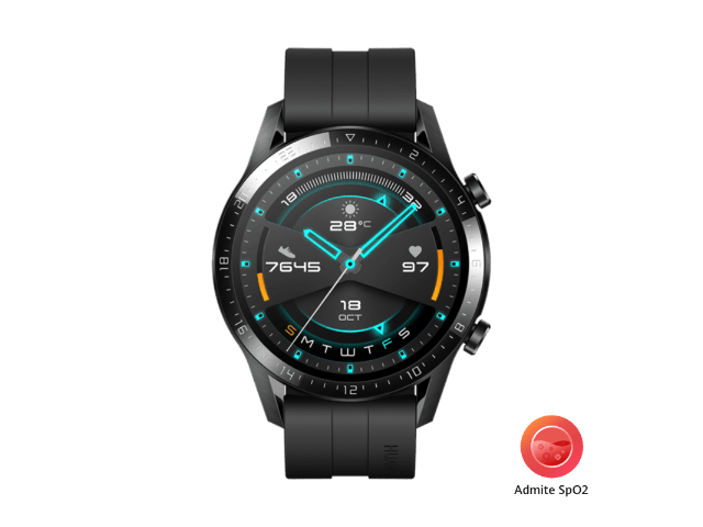 HUAWEI Watch GT 2 2019 Bluetooth SmartWatch, Sport GPS 14 Days Working Fitness Tracker, Heart Rate Tracker Waterproof for Android and iOS, 46mm (Matte Black)