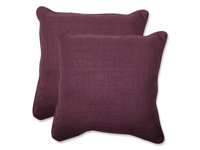 "Pillow Perfect Throw Pillow, Set Of 2 18.5"" Purple"