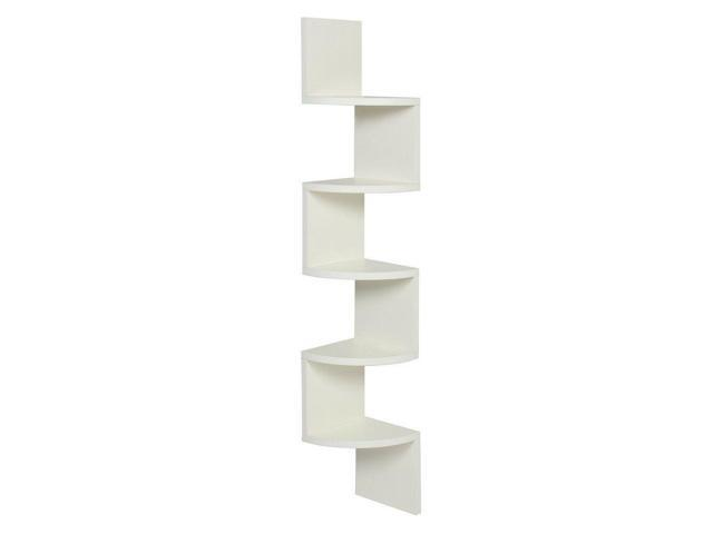 JS Wall Mount Corner Shelf 5 Tier Zig Zag Large Floating