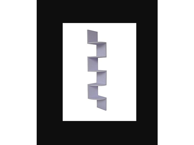 JS EWEI'S HomeWares WHC1001CD-WH 5 Tier Large Corner Wall