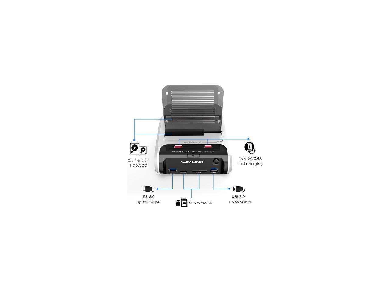 Wavlink X Man Usb 3 0 To Sata Dual Bay Hard Drive Docking