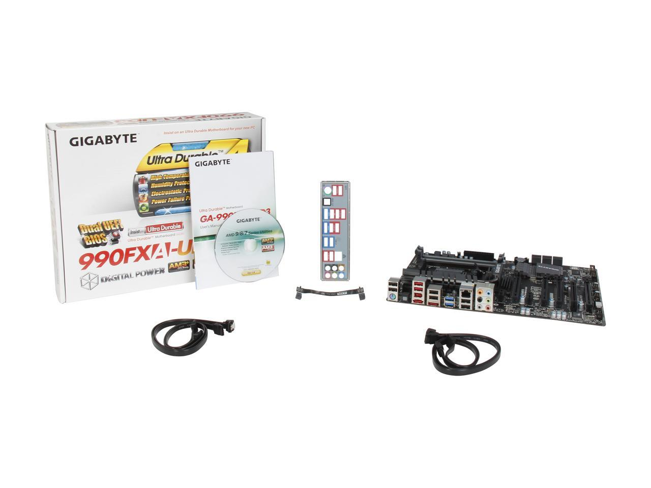 Gigabyte Motherboard Ga 990fxa Ud3 Am3 Amd 990fx Sb950