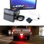 Ijdmtoy Smoked Lens 12 Led Super Bright Brake Light Trailer Hitch Cover Fit Towing Hauling 2 Standard Size Receiver For Truck Suv Rv Etc Newegg Com