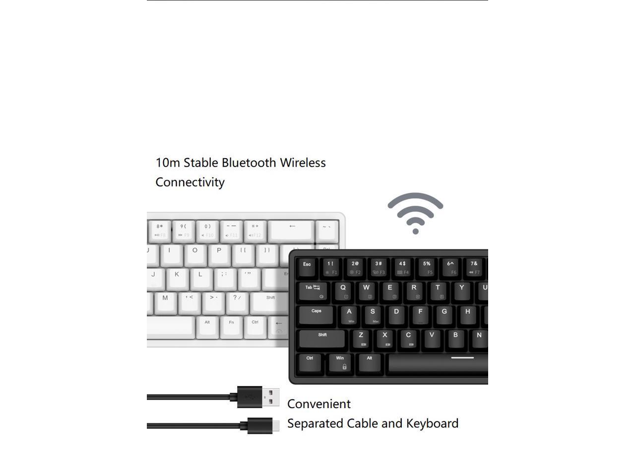 Royal Kludge Rk837 68keys Mini Layout Bluetooth And Usb