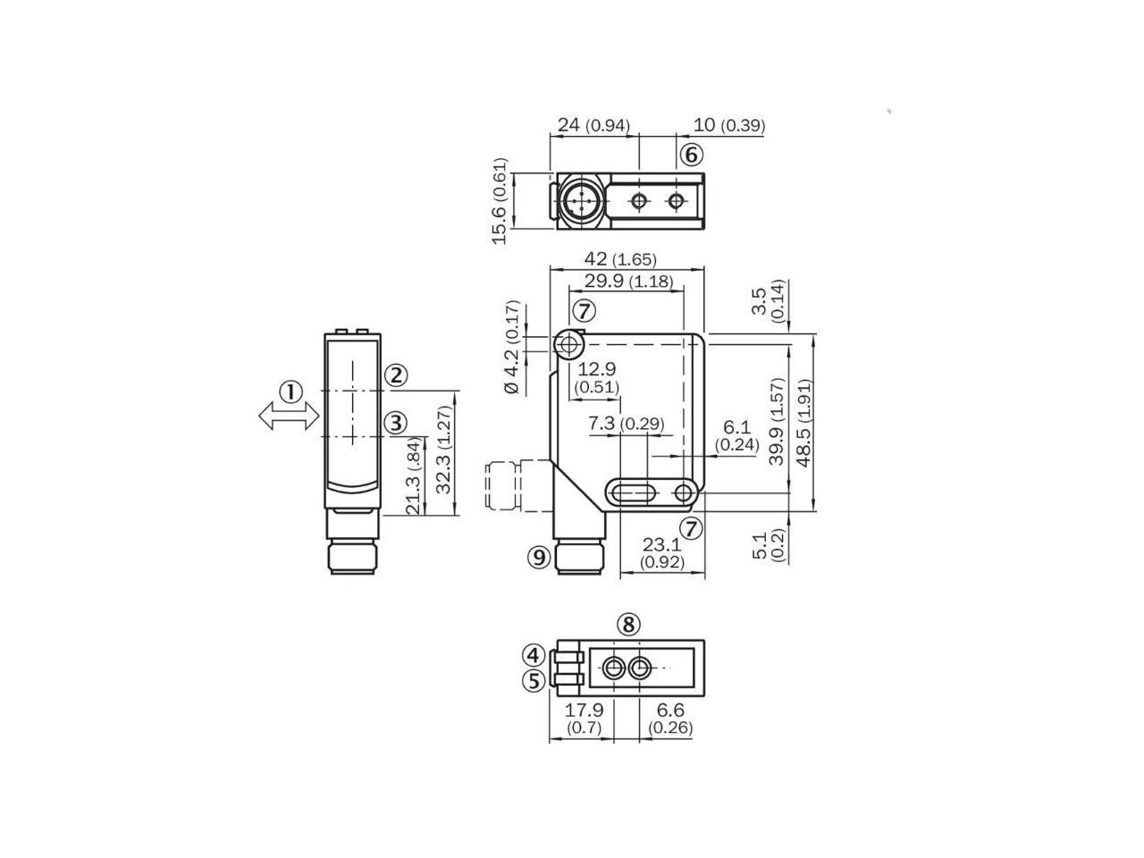 Sick Wtb12 3p Small Photoelectric Sensors Pnp New
