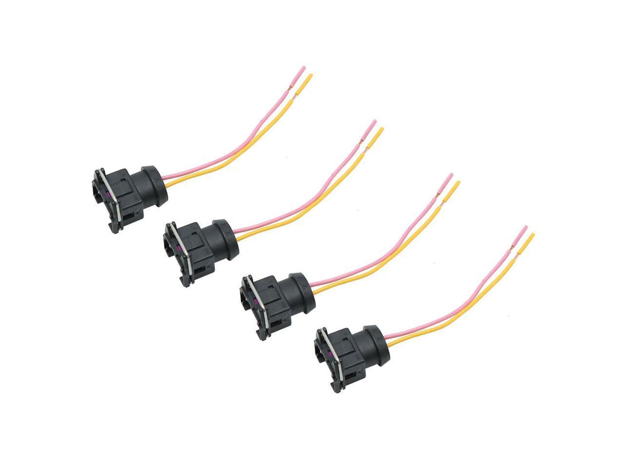 4pcs Dc 12v Car Light Two Hole Wiring Harness Socket