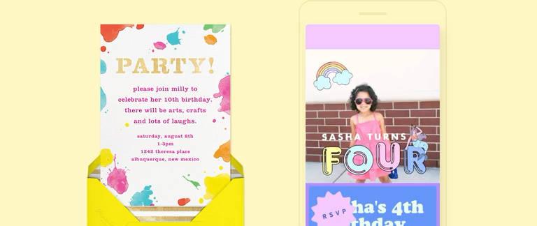 online kids birthday invitations