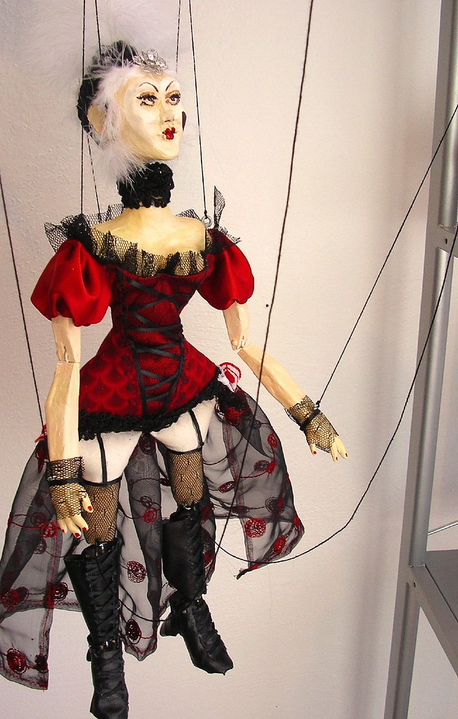 Ms Darcys Queen Of Hearts Marionette Dresden Doll Flickr