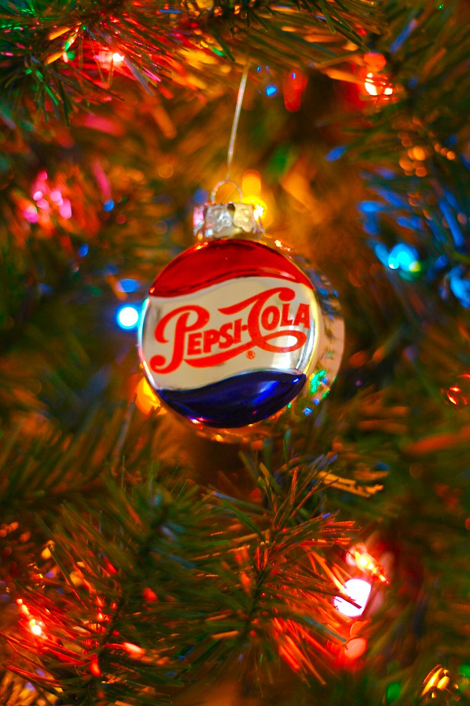 Pepsi Christmas Ornament Guess Who My Father Works For