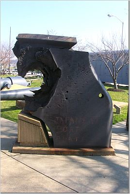 Armor Pierced By 16 Inch Shell At Navy Yard Supposedly