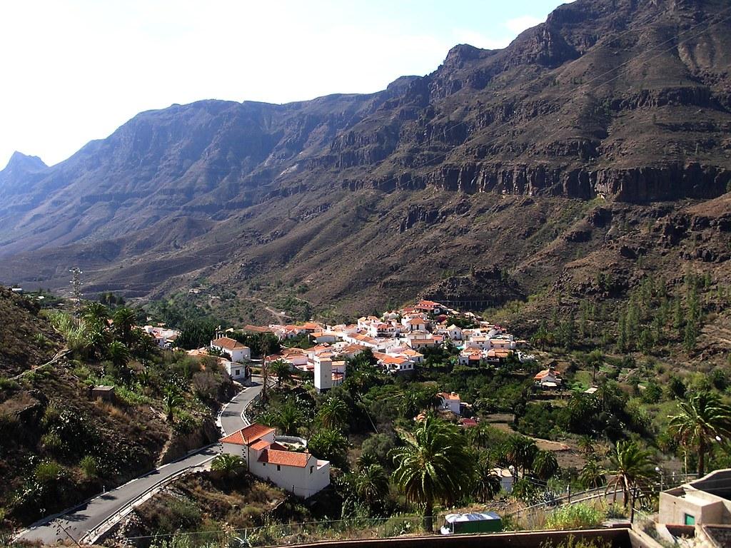 Barranco y pueblo de Fataga isla de Gran Canaria 02