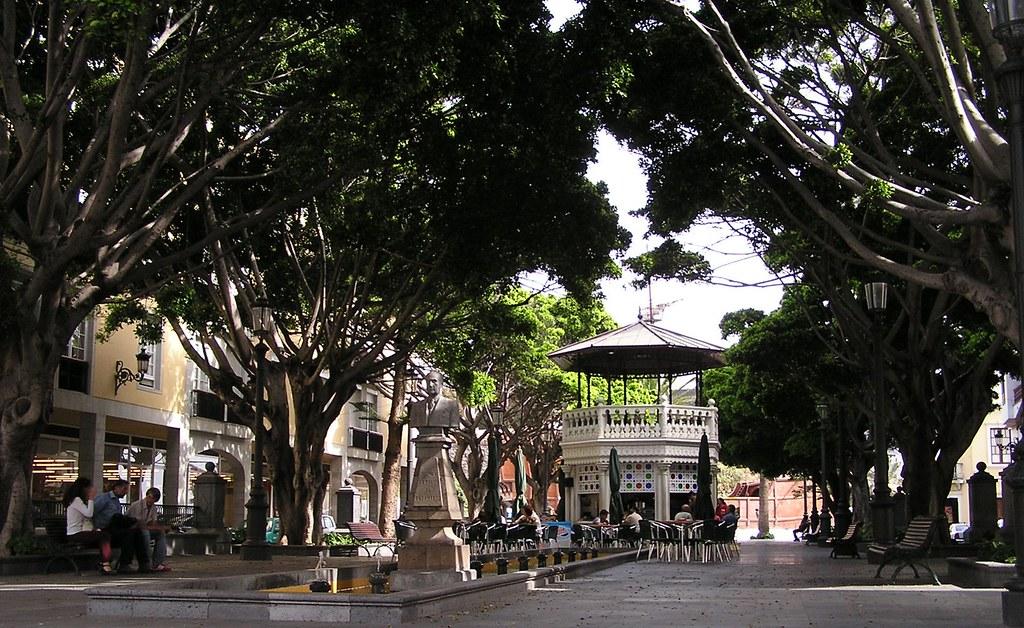 Plaza y quiosco de la Alameda Santa Cruz de la Palma