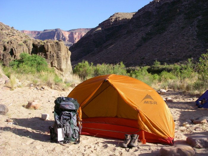 Grand Canyon - Lower Tapeats Campground at the Colorado River - photo by Alan English