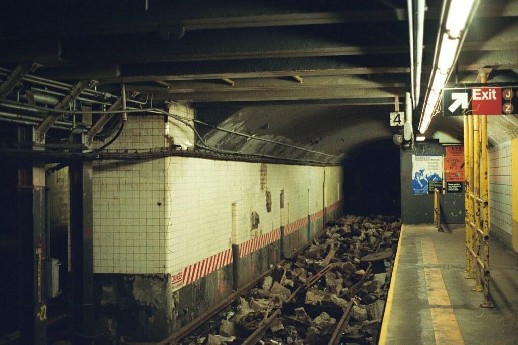Bmt Canal Street Station Lower Platform 1990s Bmt