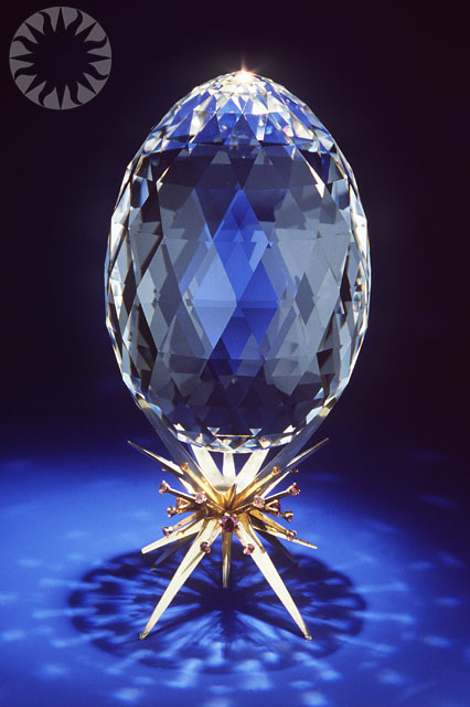 Highly Faceted Quartz Egg SI Neg 79 10103a Date 1979