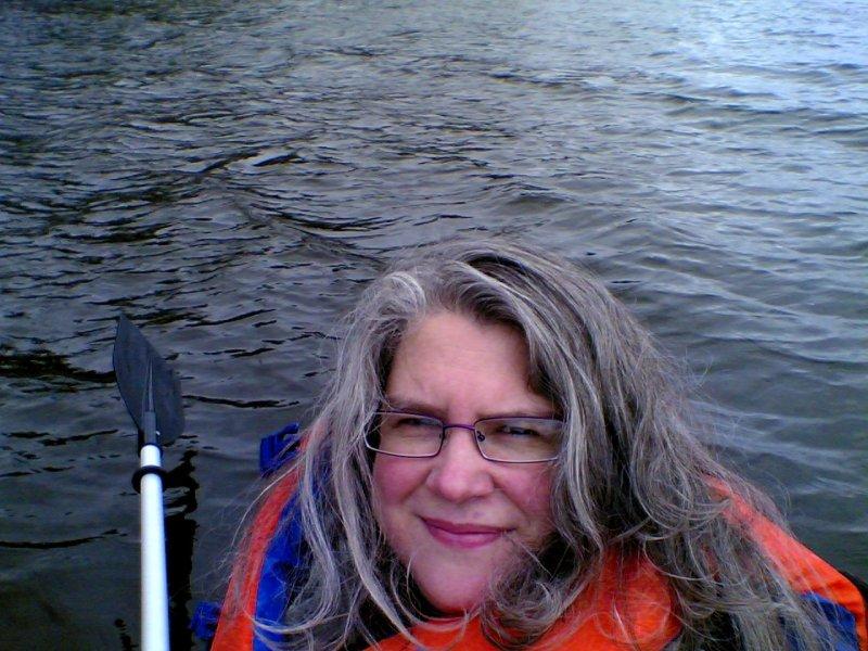 Self Portrait in Kayak