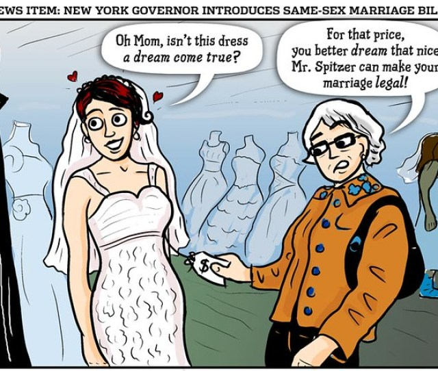 Same Sex Marriage Cartoon