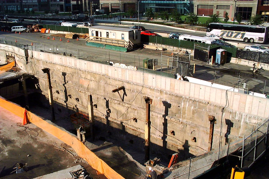 Slurry Wall At The World Trade Center Site Manhattan New