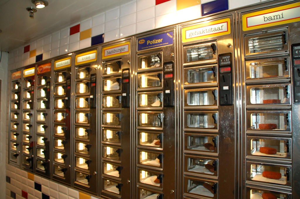 The Automat In Amsterdam The Automats Were Really Common