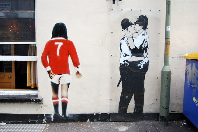 George Best Amp Kissing Coppers By Banksy In Brighton Flickr